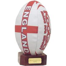 Rugby Ball Holder - Black Painted Holder Base