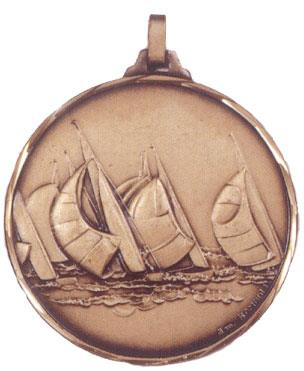 Faceted Sailing Medal