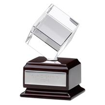 Rotating Crystal Cube Trophy KT066