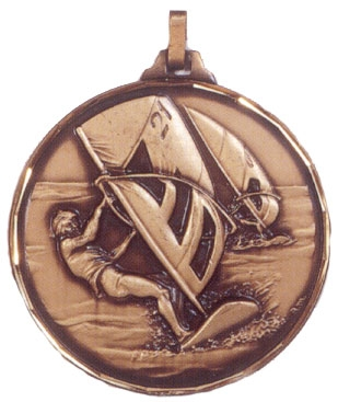 Faceted Windsurfing Medal