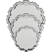 Hallmarked Sterling Silver Tray - Round Chippendale