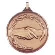 Faceted Handshake Medal