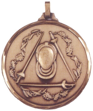 Faceted Fencing Medal