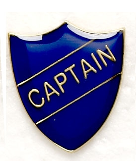 Blue School Captain Shield Badges
