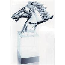 Hand Sculptured Crystal Designer Faming Horse