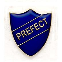 Blue School Prefect Shield Badges