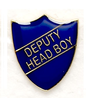 Blue Deputy Head Boy Shield School Badges