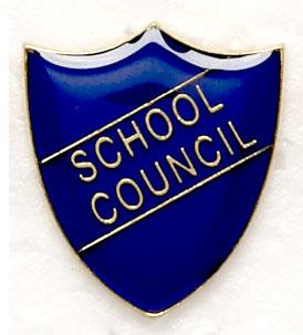 Blue School Council Shield Badges