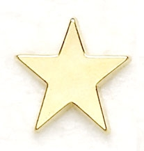 16mm Metal Star Badges