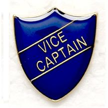 Blue School Vice Captain Shield Badges