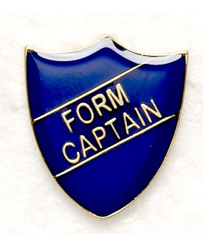 Blue School Form Captain Shield Badges
