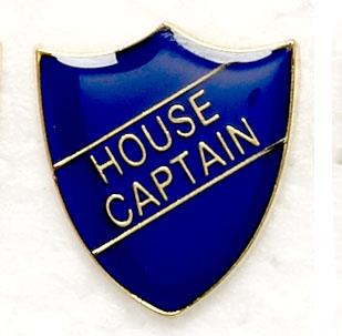 Blue School House Captain Shield Badges