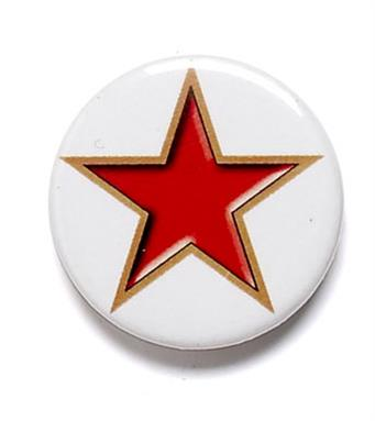 Red Star Pin Badges
