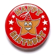 Happy Birthday Pin Badge