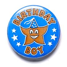 Birthday Boy Pin Badge