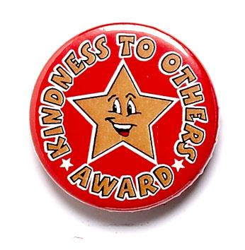 Kindness To Others Award Pin Badge
