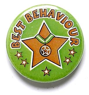 Best Behaviour Pin Badge