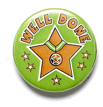 Well Done Pin Badge