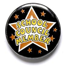 School Council Member Star Pin Badge
