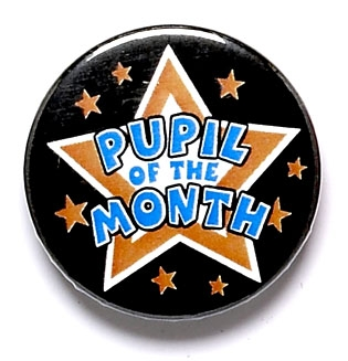 Pupil Of The Month Star Pin Badge