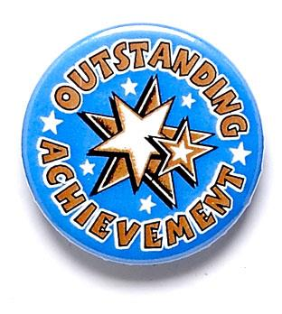 Outstanding Achivement Star Pin Badge