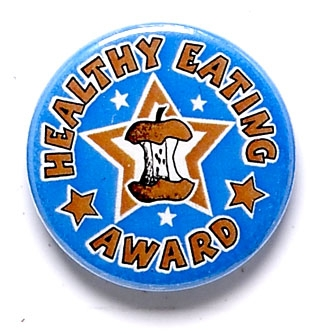Healthy Eating Star Pin Badge