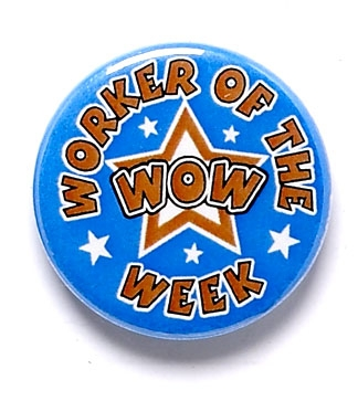 Worker Of The Week Star Pin Badge