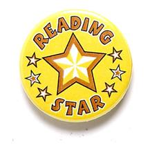 Reading Star Pin Badge