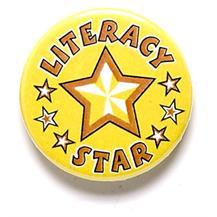 Literacy Star Pin Badge