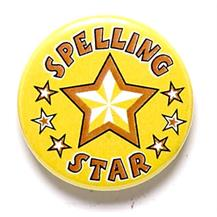 Spelling Star Pin Badge BA047
