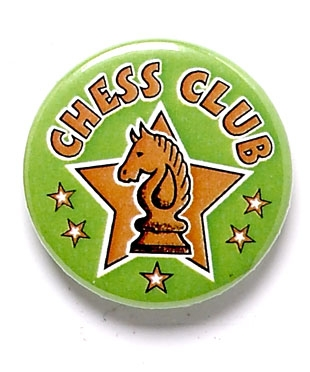 Chess Club Star Pin Button Badge