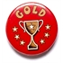 Red Gold Cup Star Pin Badge