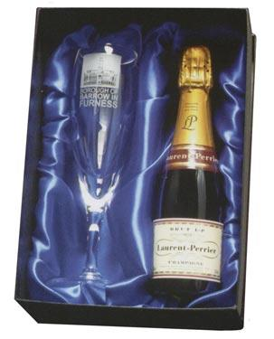 'Elsa' Champagne Set - with Free 200ml bottle of Laurent Perrier Champagne!