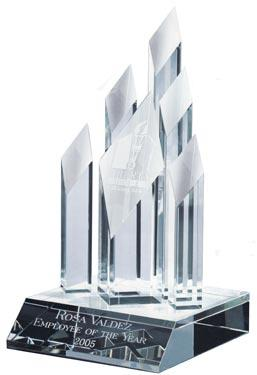 Optical Crystal Super 5 Star Diamond Award