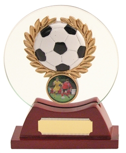Football Round Glass Trophy