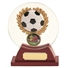 Football Round Glass Trophy thumbnail