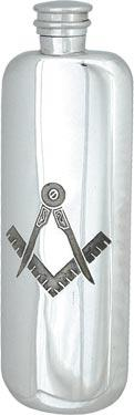 Masonic Top Pocket Flask without 'G' - 3oz