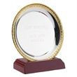 Silver Plated Round Salver With Gold Trim