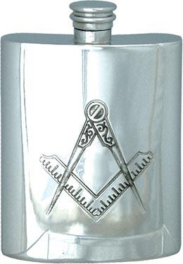 Masonic Hip Flask without 'G' - 6oz