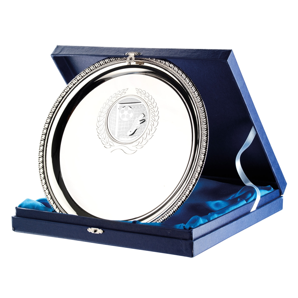 Nickel Plated Salver & Box