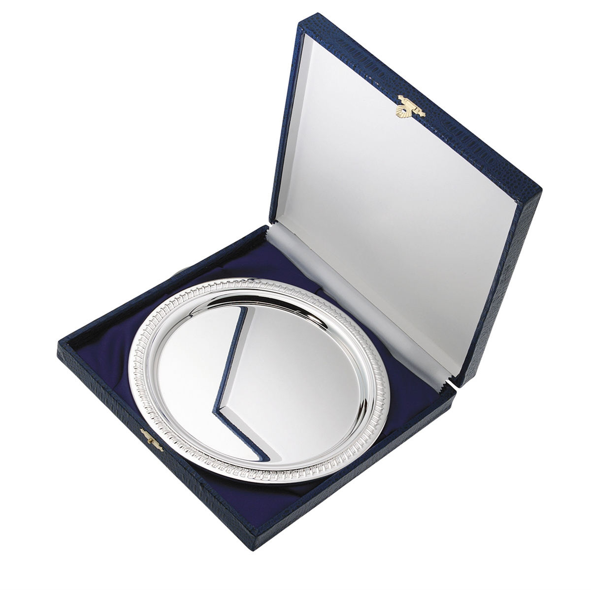 Heavyweight Nickel Plated Salver & Box