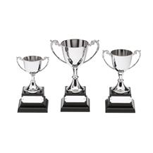 Nickel Plated Silver Cup Trophy TRC508-9-10