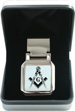 Masonic Money Clip with 'G'