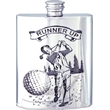 Pewter Golf Hip Flask - 'Runner Up'