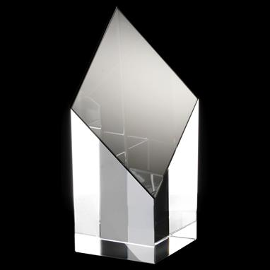 Topaz Collection Rhombus Tower Glass Award