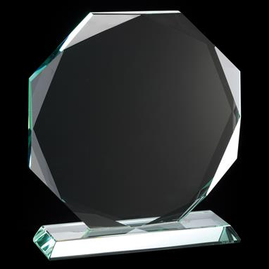 Topaz Collection Octagon Glass Plaque