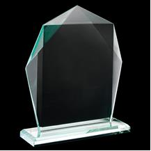 Ruby Collection Pentagon Glass Plaque