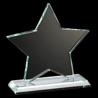 Ruby Collection Star Glass Plaque
