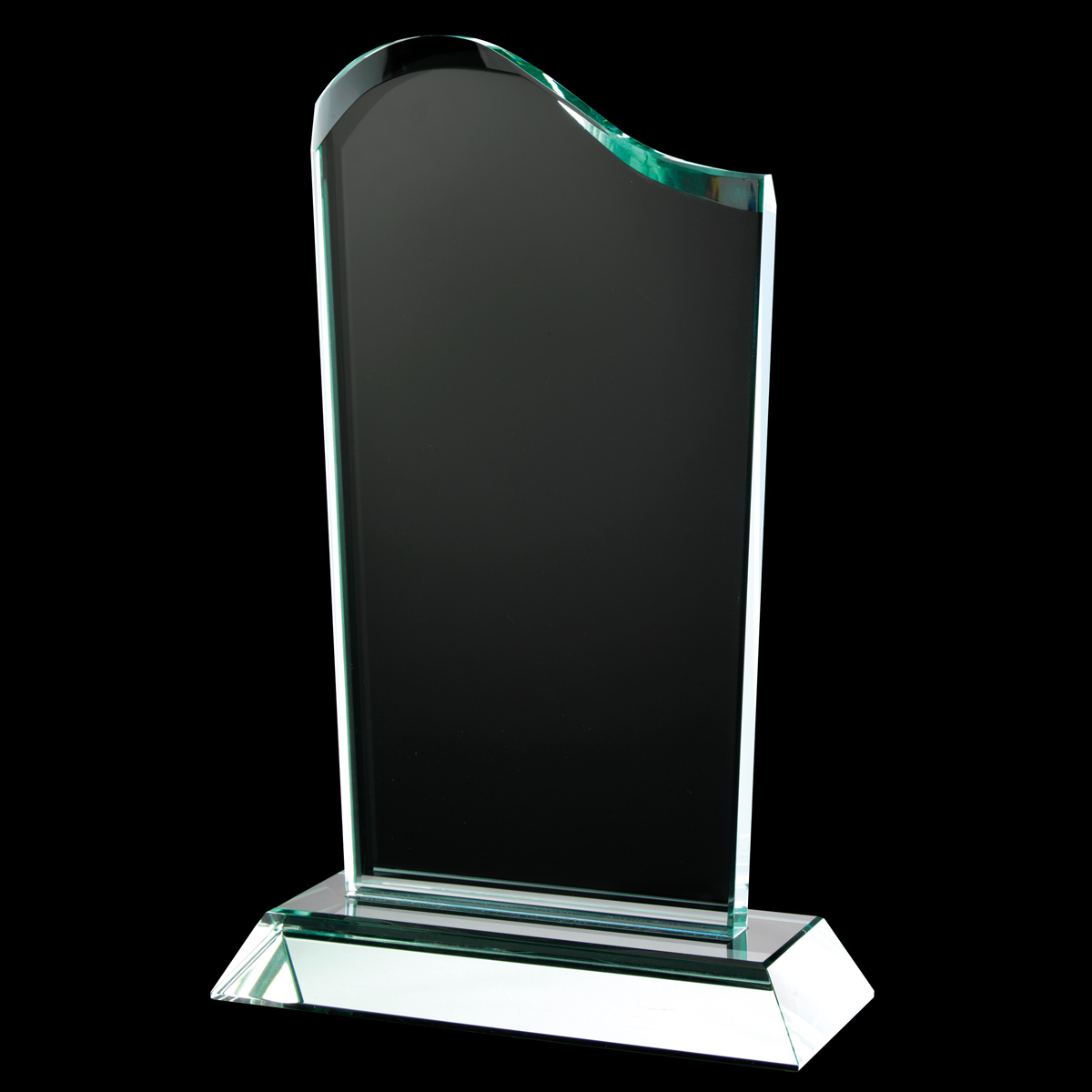 Ruby Collection Wave Top Glass Plaque