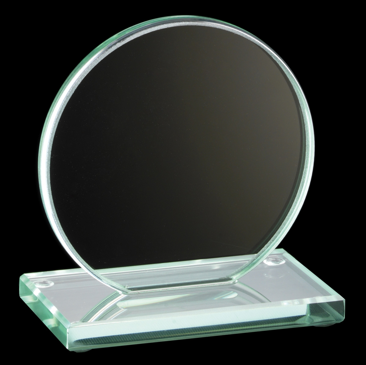 Jade Collection Round Glass Plaque